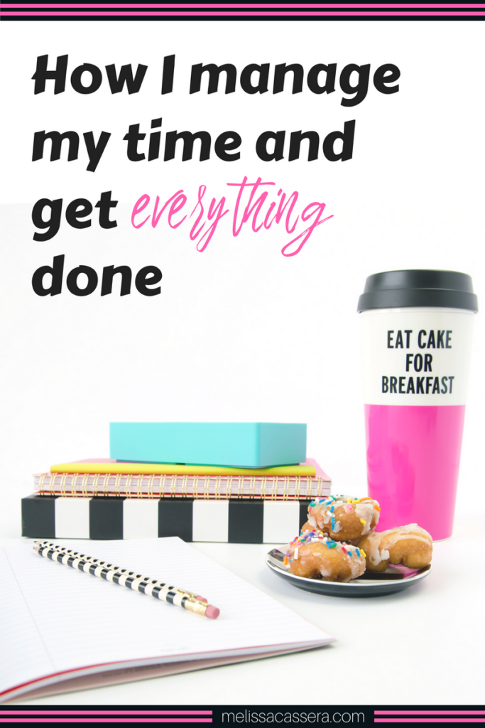 """One of the #1 things I'm asked is: """"How do you manage your time and get so much done?"""" This makes me snort with laughter (like, latte foam coming out of my nose) because I really don't feel like I'm a """"time management expert."""" Nor do I have everything together, every day. But I figured since I'm asked this question all the time, I might as well share some behind the scenes info on how I manage my time, how I choose priorities for each workday, and of course, how I manage to squeeze in time for workouts and walks with Ms. Lily (because she is a Shih Tzu princess with Many Needs.)"""